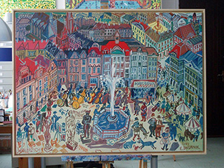 Edward Dwurnik : Wałbrzych : Oil on Canvas