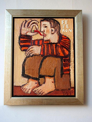 Krzysztof Kokoryn : Man with Feferon : Oil on Canvas