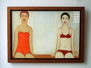 Krzysztof Kokoryn : Two ladies from the swimminpool : n/a