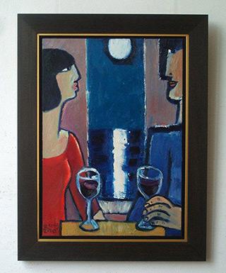 Krzysztof Kokoryn : Wine by moonlight : Oil on Canvas