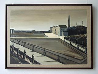 Maria Kiesner : Old post card : Tempera on Canvas