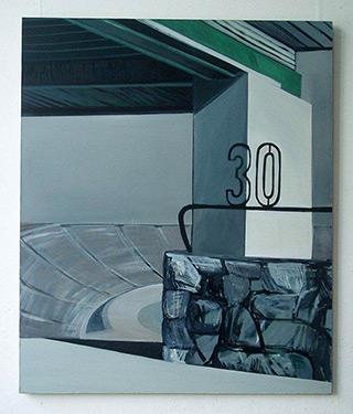 Maria Kiesner : Sector 30 : Tempera on Canvas