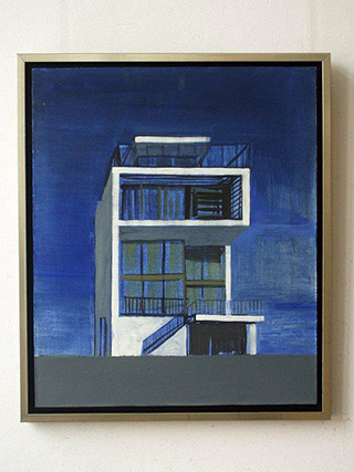 Maria Kiesner : Swiss house : Tempera on Canvas