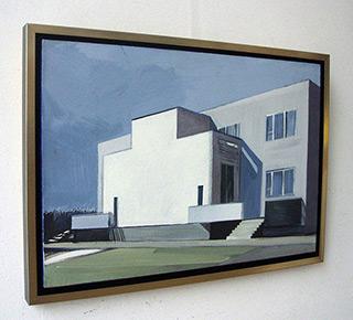 Maria Kiesner : Villa from Saska Kępa : Tempera on Canvas