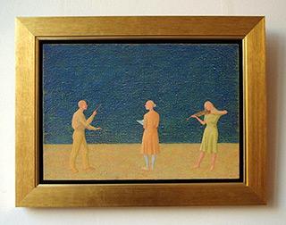 Mikołaj Kasprzyk : Trio : Oil on Canvas