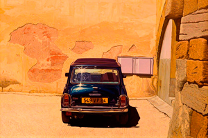 Andrzej Sadowski : Carpentras, blue Mini and the study of pink wall 2007