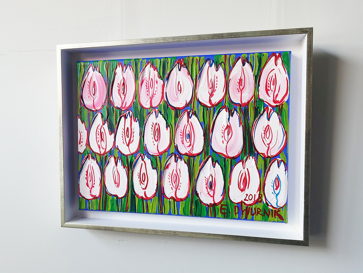 Edward Dwurnik : Pale pink tulips