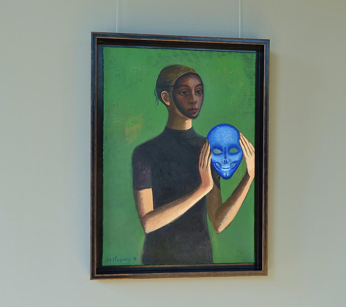 Katarzyna Karpowicz : Lady with blue mask