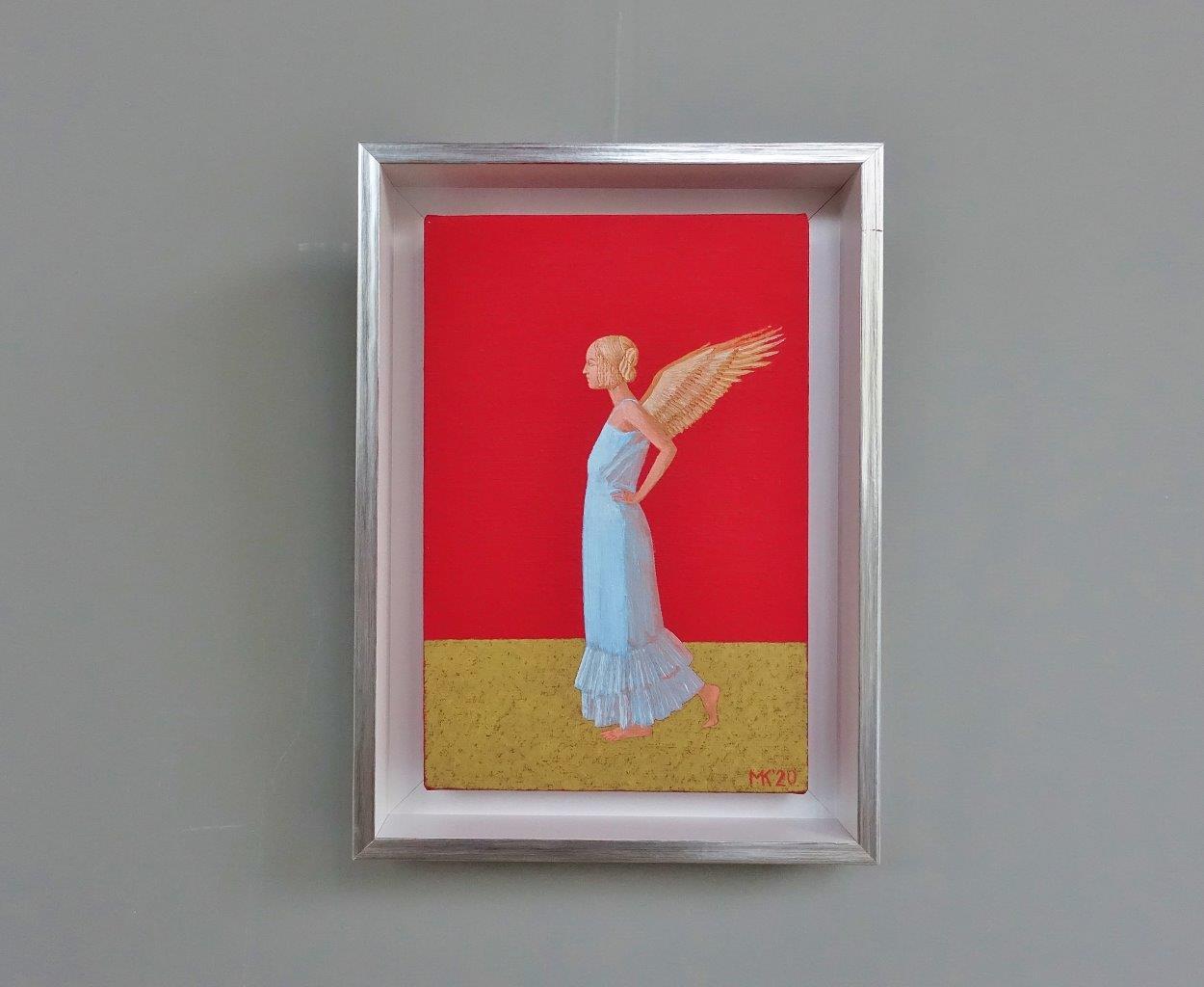 Mikołaj Kasprzyk : Angel on a red background