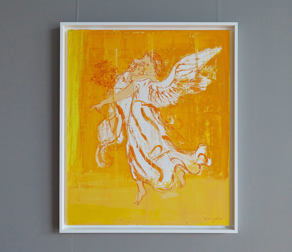 Jacek Łydżba : Guardian angel with yellow