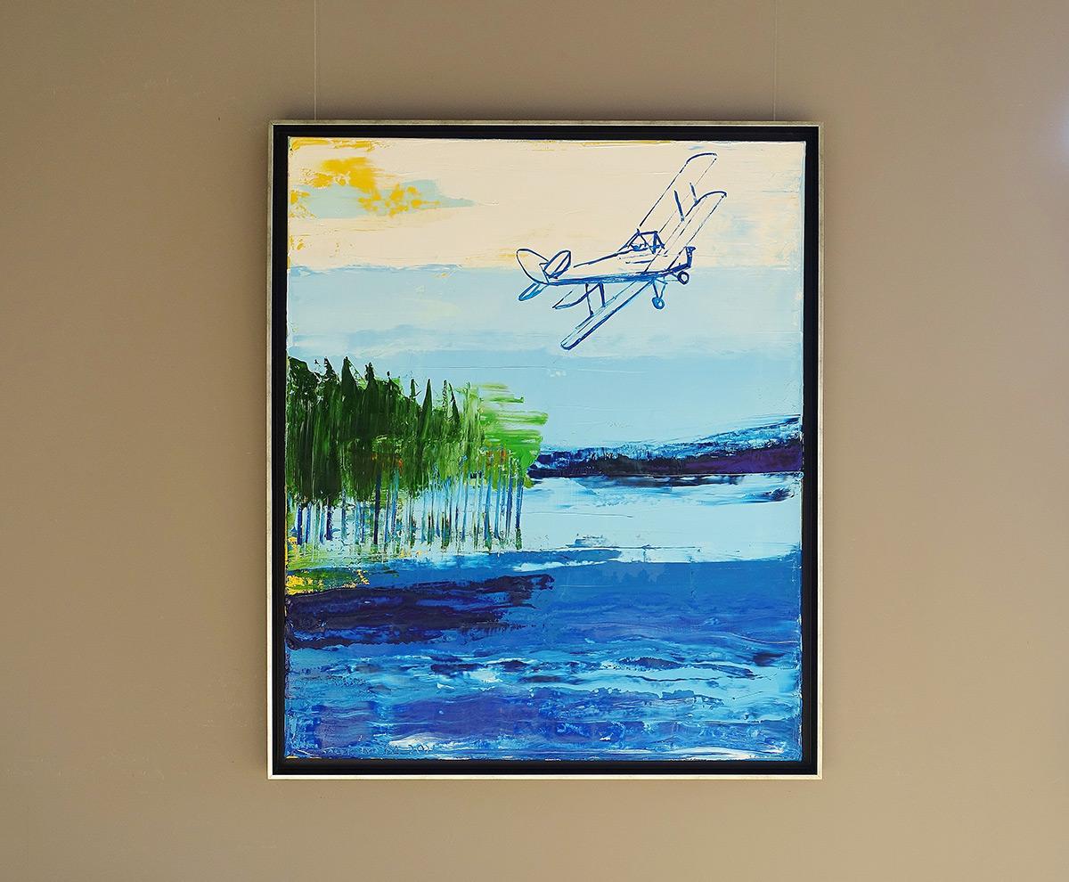 Jacek Łydżba : Plane over the lake
