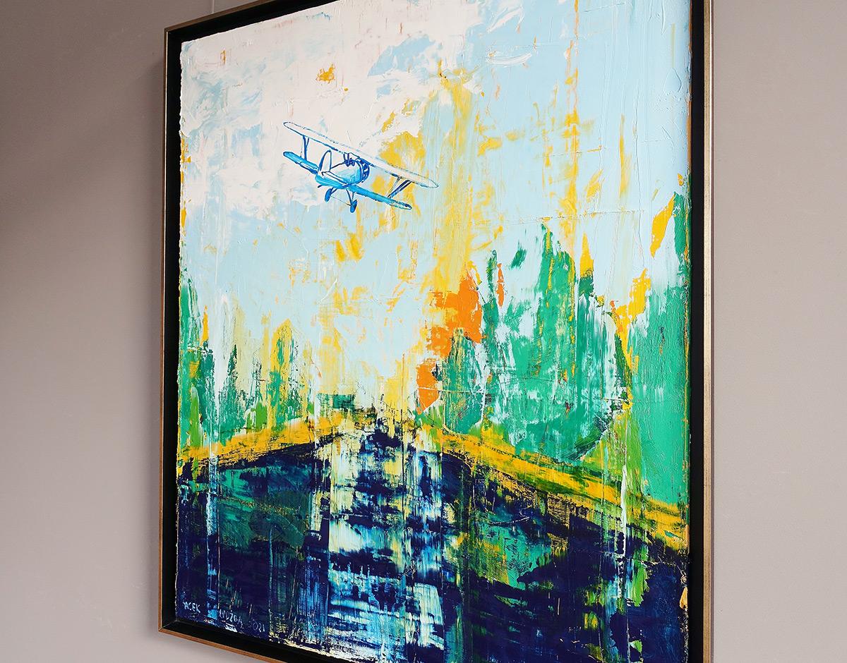 Jacek Łydżba : Plane over the river