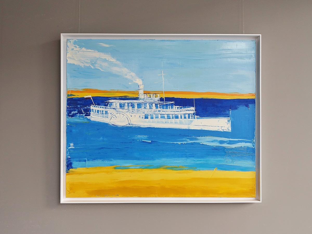 Jacek Łydżba : Steamboat on the river