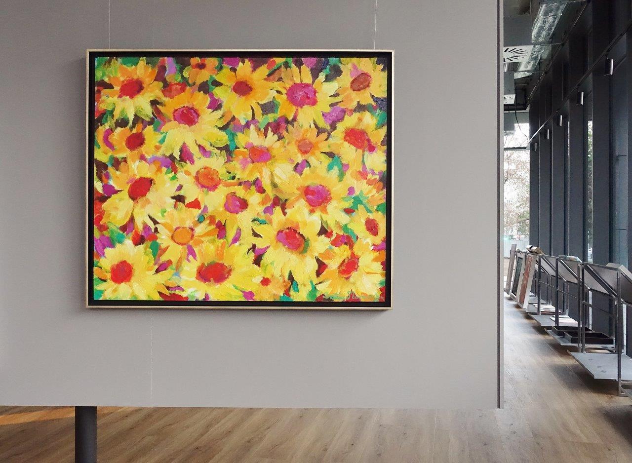 Beata Murawska : Fall night sunflowers