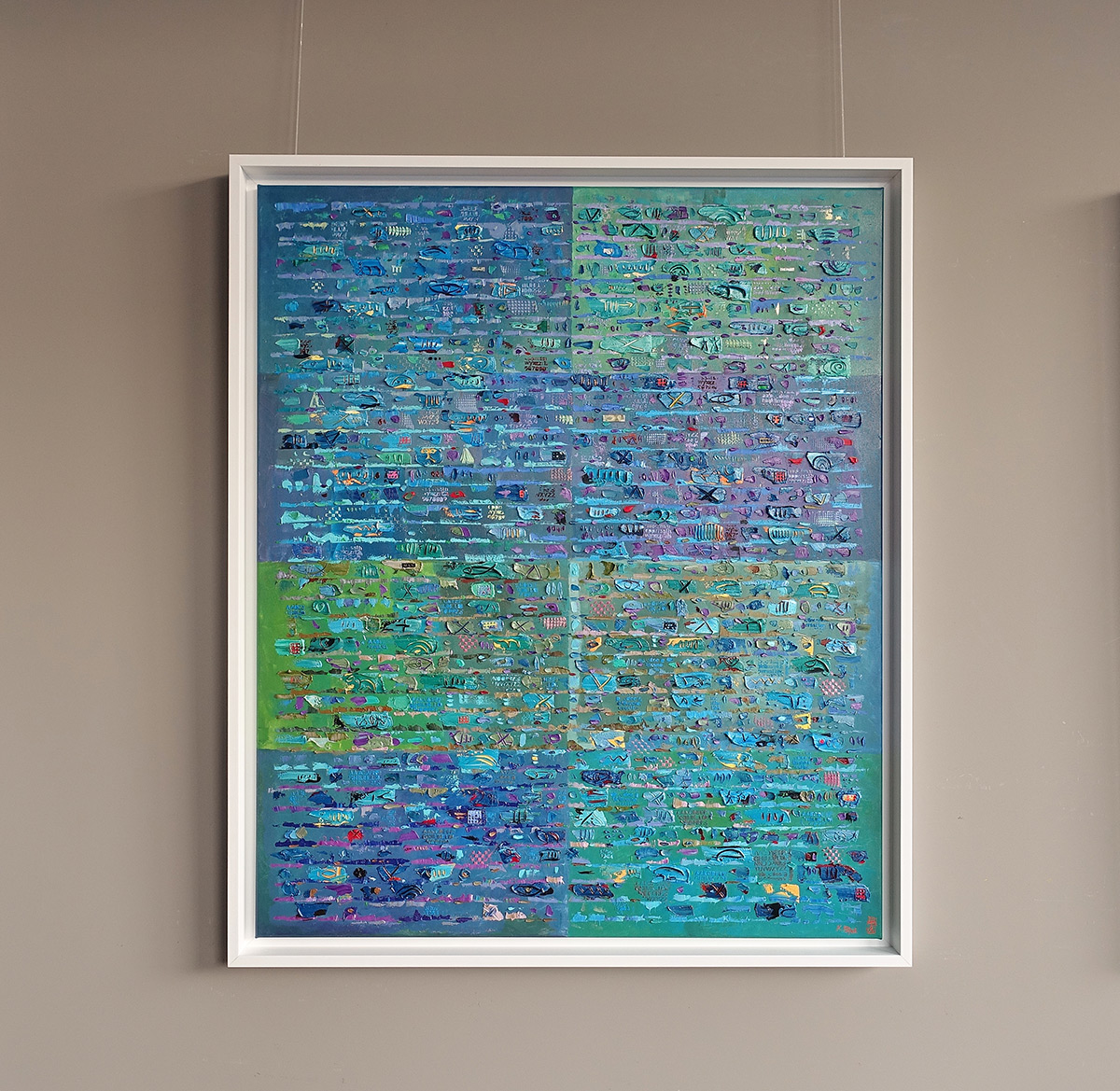 Krzysztof Pająk : Blue DNA codes