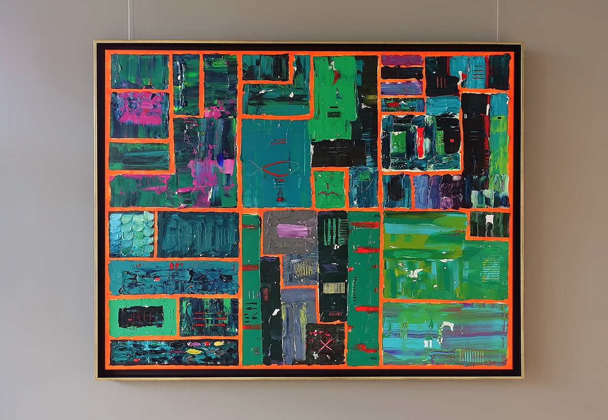 Krzysztof Pająk : DNA codes Green painting