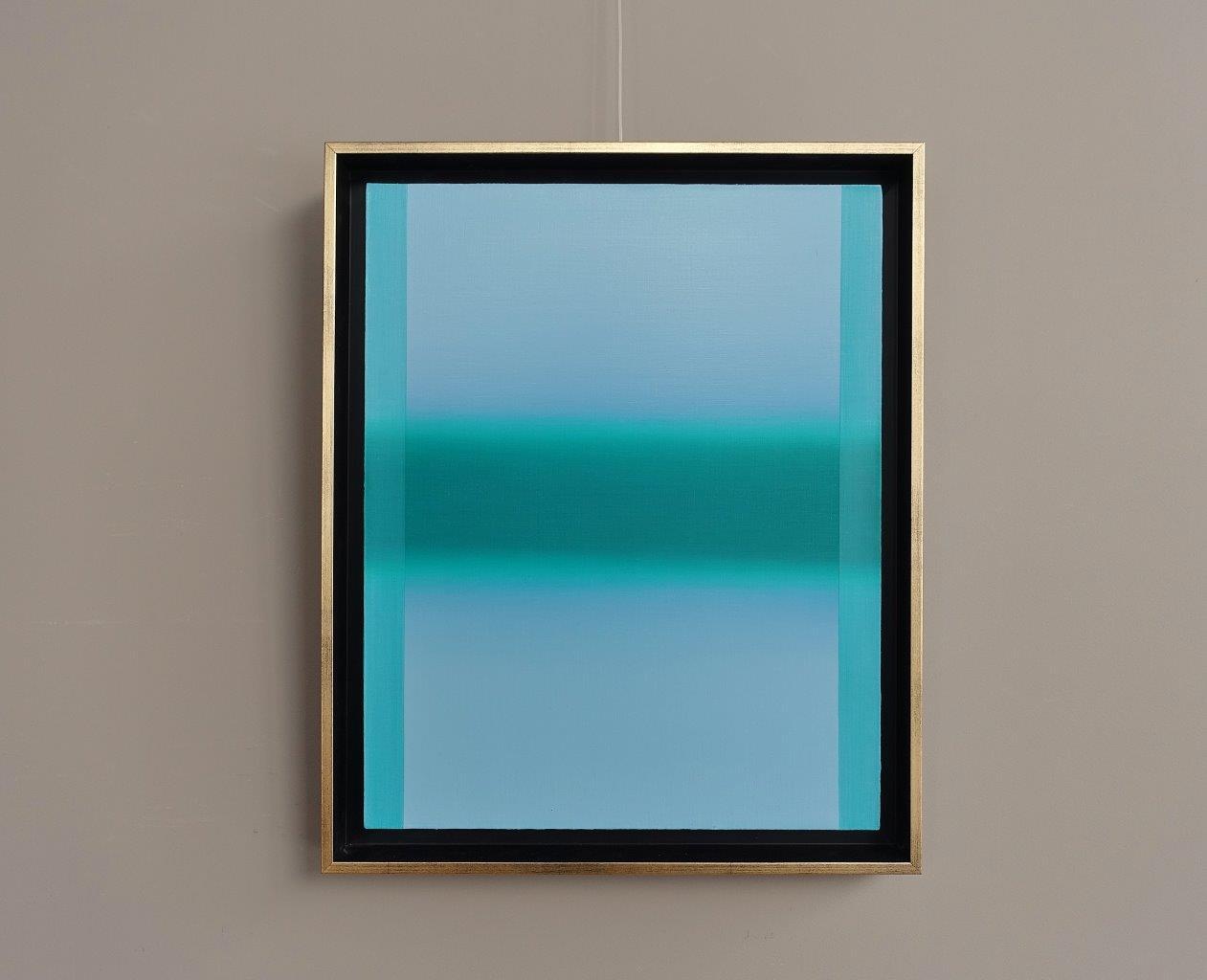 Anna Podlewska : Turquoise on blue